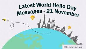 happy world hello day messages and wishes