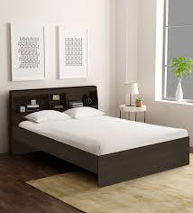 queen size bed with headboard storage