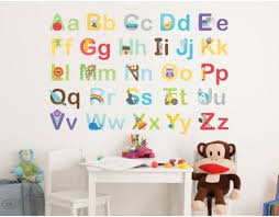Learn The Alphabet Wall Stickers Wall Stickers Abc Wall Alphabet Wall