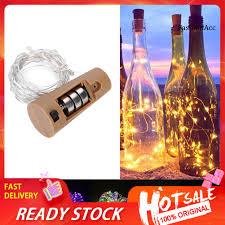 Fas) Dây Đèn Led 10 Bóng 100cm Trang Trí Chai Rượu giảm chỉ còn 13,500 đ