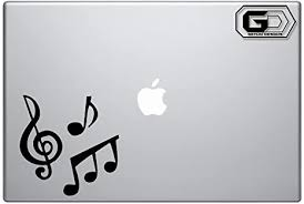 Amazon Com Clef And Notes Vinyl Macbook Laptop Pc Computer Decal Stickers Computers Accessories