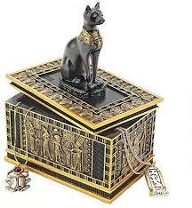 egyptian décor trinket box royal