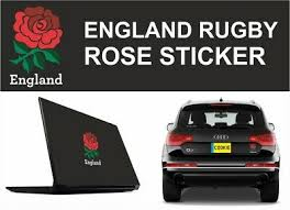 England Rose Bumper Sticker Vehicle Graphics Vinyl Decal Car Van Rugby Archives Midweek Com
