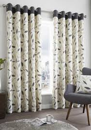 beechwood fully lined eyelet curtains