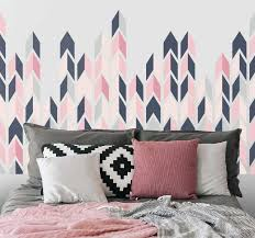 Abstract Triangles Headboard Decal Tenstickers