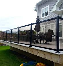 exterior decoration with glass railing