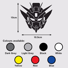 Gundam Wing Zero Head Premium Vinyl Sticker Decal Mobile Suit Gundam Wing Endless Waltz Design Craft Art Prints On Carousell