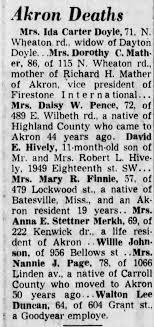 Obituary for Ida Carter Doyle (Aged 64) - Newspapers.com