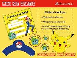 Pokemon Invitaciones Gratis Para Descargar E Imprimir Mundo Mab