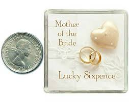 lucky wedding sixpence coin for mother