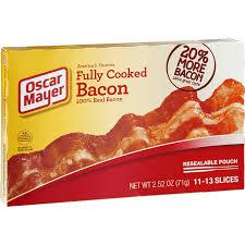 oscar mayer fully cooked bacon selectos