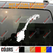 Map Of Norway Norge Car Decal Sticker Ebay