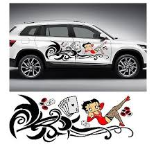 Tribal Betty Boop Car Decal Vinyl Graphic Tramp Stamp Accent Truck