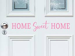 Amazon Com Story Of Home Llc Home Sweet Home Door Decal Front Door Decal Home Sweet Home Wall Decal Living Room Wall Decal Vinyl Wall Decal Home Kitchen