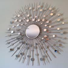 diy sunburst mirror made with bbq