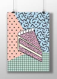 Printable Art Cake Pastel Color Pop Art Memphis Download Etsy