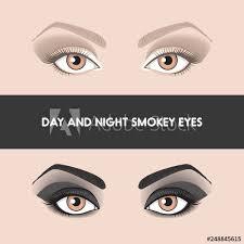 night smokye eyes two diffe types