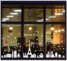 Christmas City Snow Tower Snow Glass Window Sticker Removable Wall Stickers Sale Price Reviews Gearbest