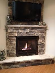 tv above fireplace corner gas