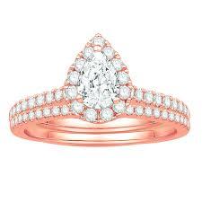 pear diamond enement ring