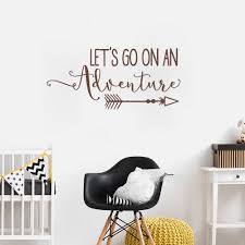 Lets Go On An Adventure Vinyl Wall Decal Quote Travel Theme Nursery Wall Sticker For Kids Rooms Home Decor Living Room New Lc017 Wall Stickers Aliexpress