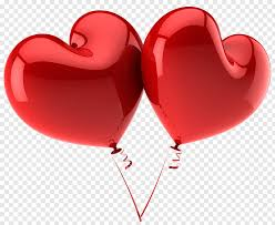 red large heart balloons