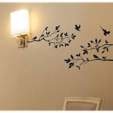 Amazon Com Tree Branches Wall Decal With Birds Vinyl Sticker Nursery Leaves 40 Wide X 18 High As Shown Matte Black Baby