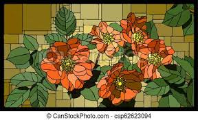 vector stained glass window with