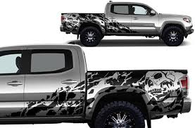 Amazon Com Factory Crafts Nightmare Side Graphics Kit 3m Vinyl Decal Wrap Compatible With Toyota Tacoma 4 Door Short Bed 2016 2020 Matte Black Arts Crafts Sewing