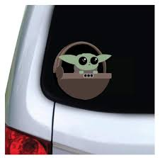 The Cute Is Strong With This One Baby Yoda Car Decal