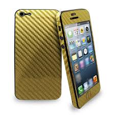 New Fashion Full Body Wrap Carbon Fibre Skin Sticker Vinyl Decal For Iphone 5s 5 Gold Geekbuying Com