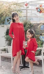 Những set đồ đẹp cho mẹ và bé gái diện tết 2019 » Thời trang Eva