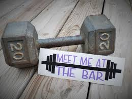 Meet Me At The Bar Decal Fitness Decal Yeti Tumbler Decal Motivation Water Bottle Decal Yeti Decal F Fitness Gifts For Men Water Bottle Decal Fitness Gifts