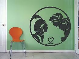 New Aladdin Princess Jasmine Disney Movie Wall Decals For Rooms Walls Stickers Ebay
