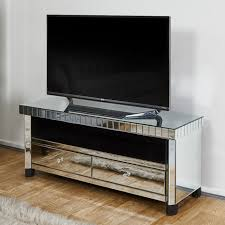 tuscany mirrored tv stand with 2