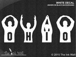 Ohio State Ohio Silhouette Letters Vinyl Window Decal Sticker Osu Ebay