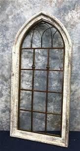 tall wood metal wall decor arch window