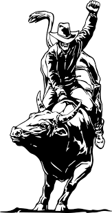 Wall Decals And Stickers Rodeo Riding A Bull Designwithvinyl