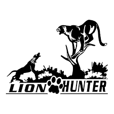 Lion Hunter Mountain Lion Window Decal
