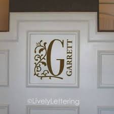 Floral Initial Name Wall Decal Vinyl Lettering Sticker Modern Contemporary Ebay