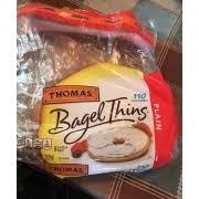 thomas bagel thins plain calories