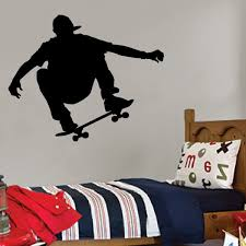 Skateboarder Wall Decal Style 2 Vivid Wall Decals Skateboard Room Vinyl Wall Art Decals Wall Decals