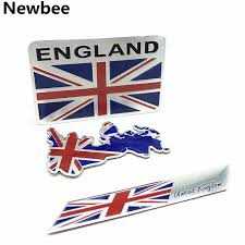 3d Aluminium Alloy Gb England Map Uk Flag Emblem United Kingdom Badge Decal Motorcycle Decoration Car Sticker For Mini Benz Bmw Car Stickers Aliexpress