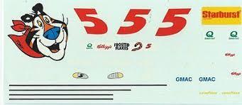 14 Tony The Tiger Frosted Flakes Gmac Starburst Nascar Decal 3 3 4 X 8 5 Mib Ebay