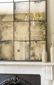 distressed antiqued mirror