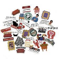 34pcs Friends Tv Show Sticker Pack Waterproof Vinyl Stickers Residue Free For Sale Online