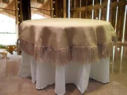 burlap tablecloth 60 round fringed