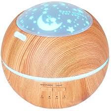 Amazon Com Tomnew 150ml Aromatherapy Diffuser Ultrasonic Essential Oil Diffuser Kids Room Fragrance Mini Aroma Humidifier Wood Grain Waterless Auto Shut Off And 7 Color Led Lights Changing For Home Baby Brown Health