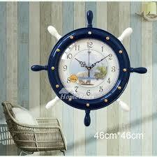 large 18 inch nautical wall clock beach