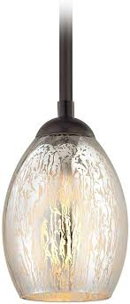 bronze mini pendant light mercury glass